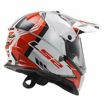 LS2 MX436 TRIGGER WHITE RED MATT BACK