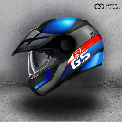 BMW R1200GS Custom Helmet Design Side Angle