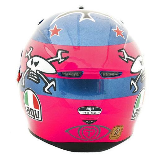 AGV K3 SV Full Face Motorcycle Helmet Guy Martin Britten Replica PinkBlue 222410082493 3