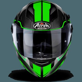 AIROH Movement S Faster Gloss Green Full Face Helmet front