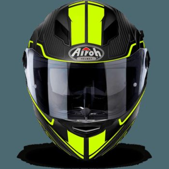 AIROH Movement S Faster Gloss Yellow Full Face Helmet front