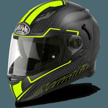 AIROH Movement S Faster Gloss Yellow Full Face Helmet side
