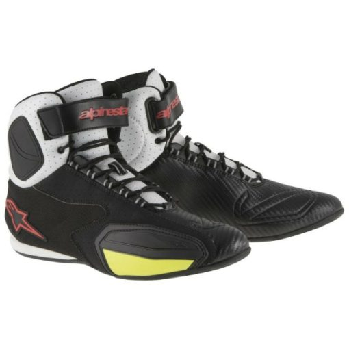 Alpinestars Faster Vented Black White Red Yellow Shoes