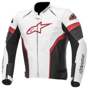 Alpinestars GP Plus R Leather Black White Red Jacket