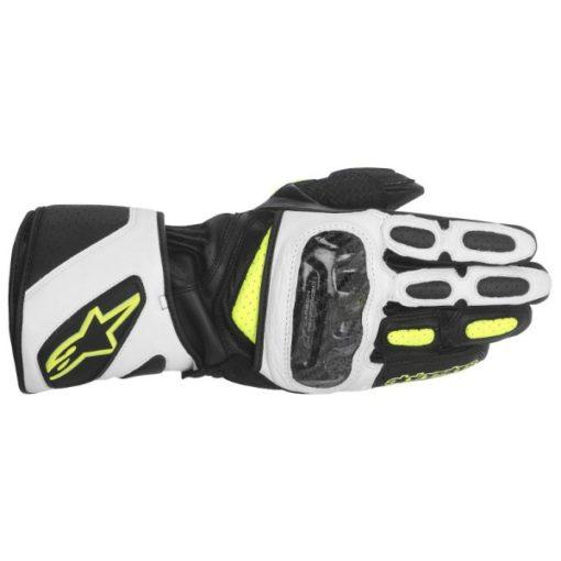 Alpinestars SP 2 Black White Fluorescent Yellow Riding Gloves