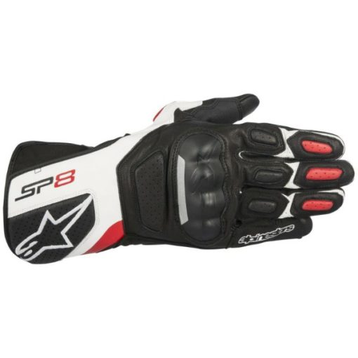 Alpinestars SP 8 V2 Black White Red Riding Gloves
