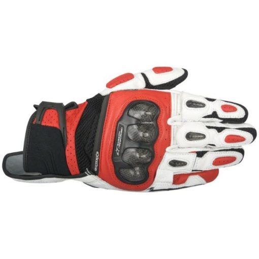 Alpinestars SPX Air Carbon Black White Red Riding Gloves