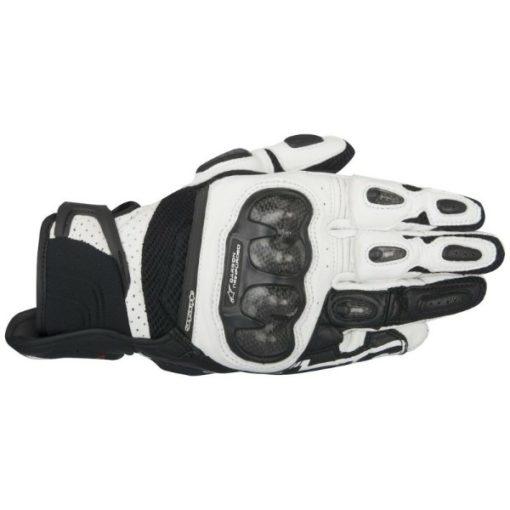 Alpinestars SPX Air Carbon Black White Riding Gloves 1