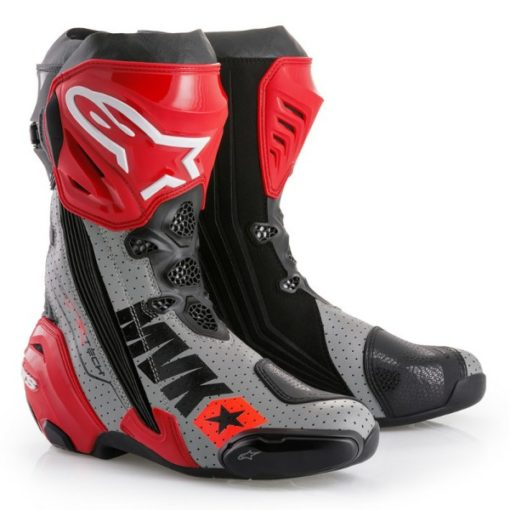 Alpinestars SuperTech R Black Red Grey Boots