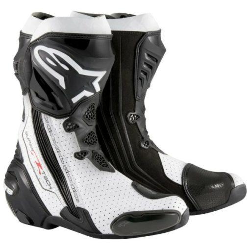 Alpinestars SuperTech R Black White Boots