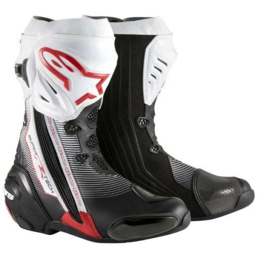 Alpinestars SuperTech R Black White Red Boots