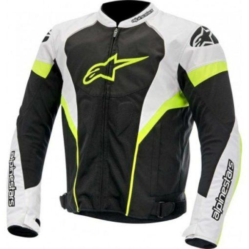Alpinestars T GP Plus R Air Black White Fluorescent Yellow Jacket