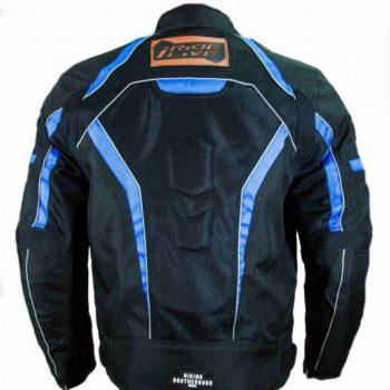 BBG I Ride I Live Black Blue Riding Jacket 2