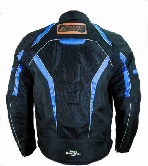 BBG I Ride I Live Black Blue Riding Jacket 2
