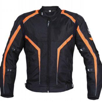 BBG I Ride I Live Black Orange Riding Jacket 1