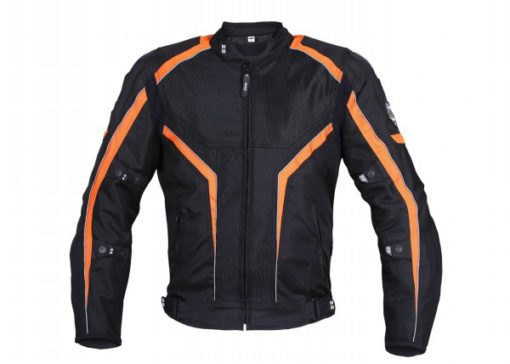 BBG I Ride I Live Black Orange Riding Jacket 1