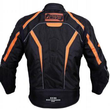 BBG I Ride I Live Black Orange Riding Jacket 2