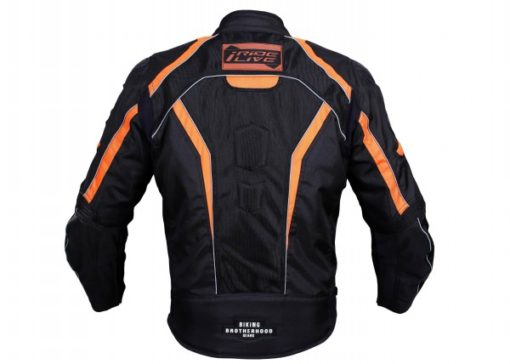 BBG I Ride I Live Black Orange Riding Jacket 2