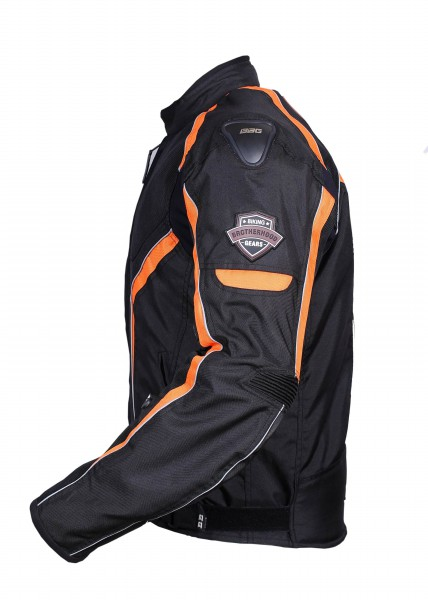BBG I Ride I Live Black Orange Riding Jacket 3