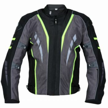 BBG Navigator Black Fluroscent Yellow Riding Jacket front