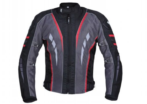 BBG Navigator Black Grey Red Riding Jacket 1