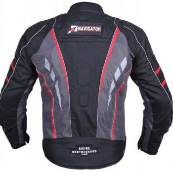 BBG Navigator Black Grey Red Riding Jacket 2