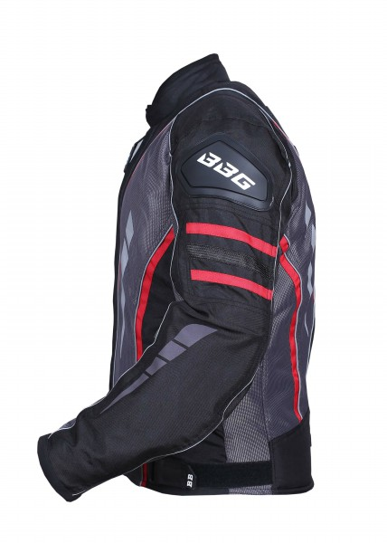 BBG Navigator Black Grey Red Riding Jacket 3