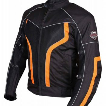 BBG xPlorer Black Orange Riding Jacket1