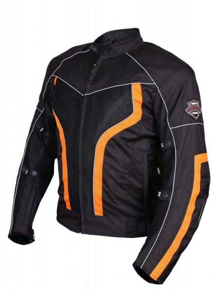BBG xPlorer Black Orange Riding Jacket1
