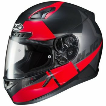 HJC CL 17 Boost MC1SF Matt Black Red Full Face Helmet 1 1