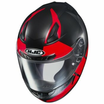 HJC CL 17 Boost MC1SF Matt Black Red Full Face Helmet 2 1