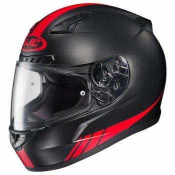 HJC CL 17 Streamline MC1F Matt Black Red Full Face Helmet 1 1
