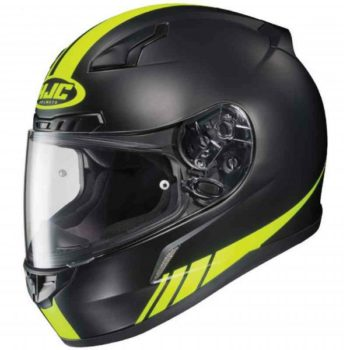HJC CL 17 Streamline MC3HF Matt Black Fluorescent Yellow Full Face Helmet 1