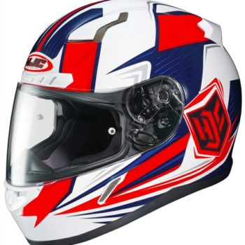 HJC CL 17 Striker MC1H Matt White Blue Red Full Face Helmet 1