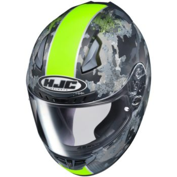 HJC CL 17 Void MC3HF Matt Camo Black Grey Fluorescent Yellow Full Helmet 1 1