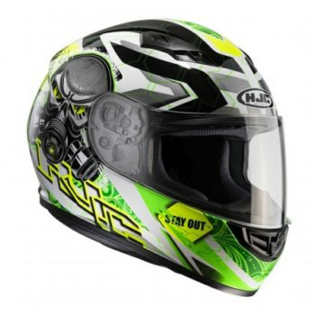 HJC CS 15 Rafu MC4H Matt White Green 1