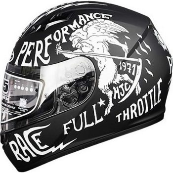 HJC CS 15 Rebel MC10F Matt Black White Full Face Helmet