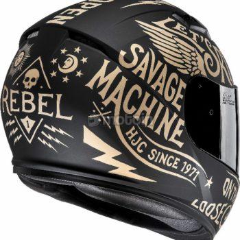 HJC CS 15 Rebel MC9F Matt Black White Full Face Helmet 2