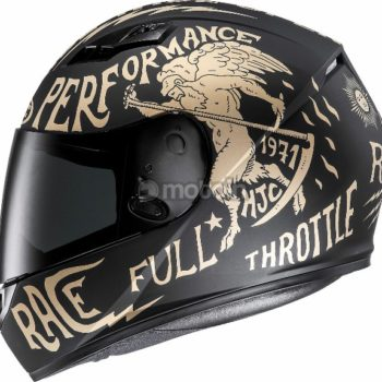 HJC CS 15 Rebel MC9F Matt Black White Full Face Helmet 3