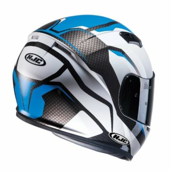 HJC CS 15 Sebka MC2 Matt White Black Blue Full Face Helmet 3