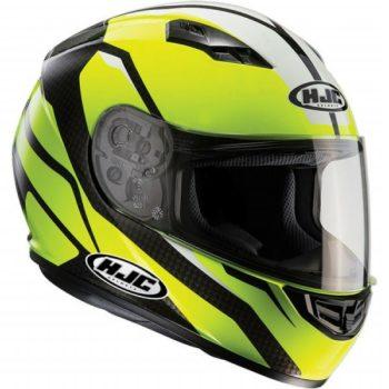 HJC CS 15 Sebka MC4H Matt Fluorescent Yellow Black White Full Face Helmet 1