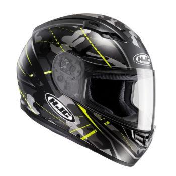 HJC CS 15 Songtan MC4HSF Matt Camo Black Grey Fluorescent Yellow Full Helmet