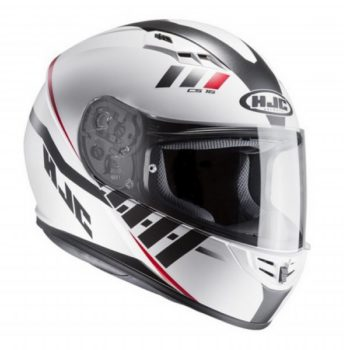 HJC CS 15 Space MC10SF Matt White Black Red 1