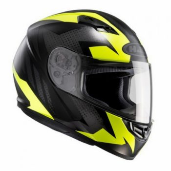 HJC CS 15 Treague MC4HSF Matt Black Grey Fluorescent Yellow Full Face Helmet