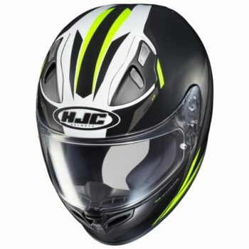 HJC FG17 Valve MC4HSF Matt Black White Fluorescent Yellow Full Face Helmet 2