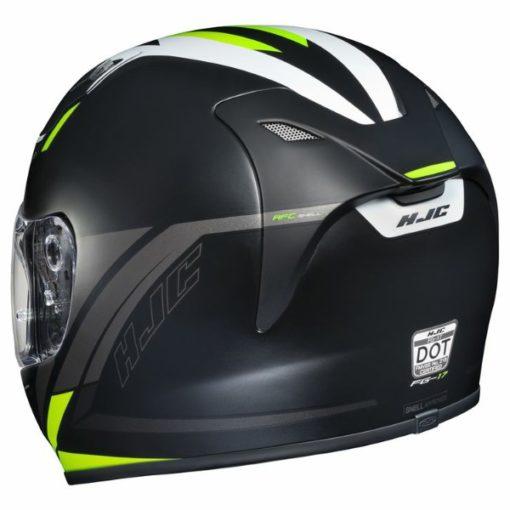 HJC FG17 Valve MC4HSF Matt Black White Fluorescent Yellow Full Face Helmet 3