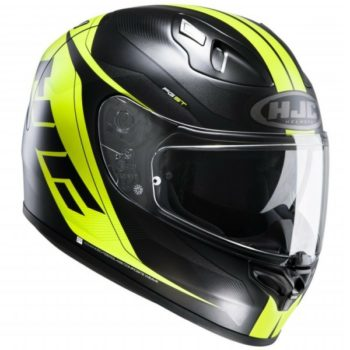 HJC FGST Chrono MC4HSF Matt Black Fluorescent Yellow Full Face Helmet side
