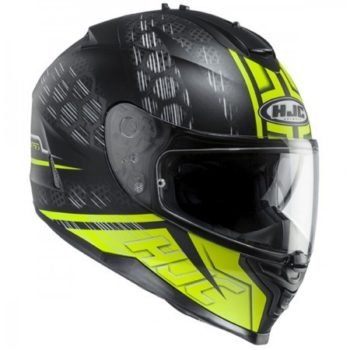 HJC IS 17 Enver MC4HSF Matt Black Flurocent Yellow Full Face Helmet 1