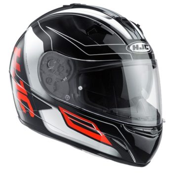 HJC TR 1 Skyride MC1 Matt Black Grey Orange Full Face Helmet 1