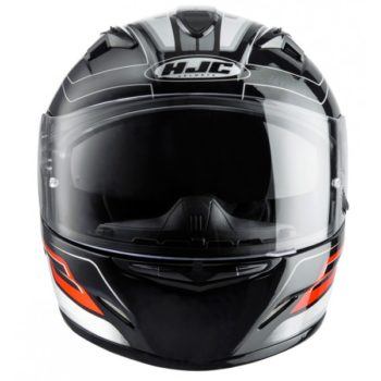 HJC TR 1 Skyride MC1 Matt Black Grey Orange Full Face Helmet 3